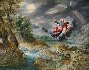Jan Brueghel the Younger God creating the Sun, the Moon and the Stars oil painting