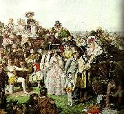 William Powell  Frith derby day, c. oil painting