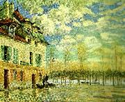 Alfred Sisley oversvamning i port oil painting reproduction