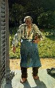 Emile Claus The Old Gardener oil painting