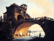 Hubert Robert Dimensions and material of painting oil painting