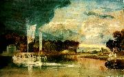 J.M.W.Turner the thames at isleworth with pavilion and syon ferry oil painting