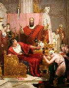 Richard Westall Sword of Damocles oil painting