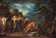 Salvator Rosa Pythagoras Emerging from the Underworld oil painting reproduction
