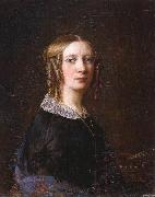 Sophie Adlersparre Portrait with the side-curls that were most common as part of 1840s women's hairstyles. oil painting