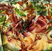 Umberto Boccioni elasticitet oil painting