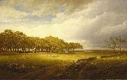 William Trost Richards Old Orchard at Newport oil painting