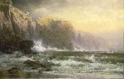 William Trost Richards The League Long Breakers Thundering on the Reef oil painting