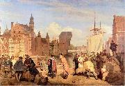 Wojciech Gerson Gdansk in the 17th century. oil painting