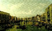Canaletto vy over canal grande i venedig oil painting reproduction