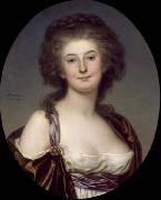 Adolf Ulrik Wertmuller Mademoiselle Charlotte Eckerman (1759-1790), Swedish opera singer and actress oil painting