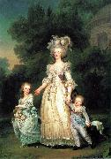 Adolf-Ulrik Wertmuller Marie Antoinette with her children oil painting