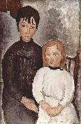 Amedeo Modigliani Zwei Madchen oil painting reproduction