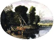 BONZI, Pietro Paolo Italianate River Landscape oil painting reproduction