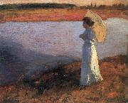 Bela Ivanyi-Grunwald Woman by the Water oil painting
