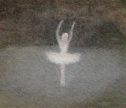 Clarice Beckett Dying Swan oil painting reproduction
