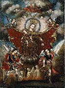 Diego Quispe Tito Virgin of Carmel Saving Souls in Purgatory oil painting