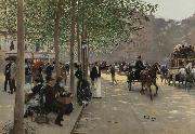 Jean Beraud Avenue Parisienne oil painting reproduction