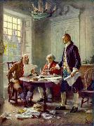 Jean Leon Gerome Ferris Writing the Declaration of Independence, 1776 oil painting reproduction