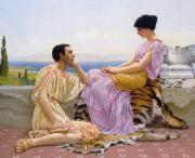 John William Godward Youth and Time oil painting reproduction