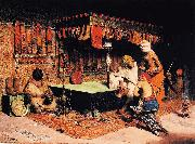 Jose Villegas y Cordero The Slipper Merchant oil painting