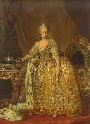 Lorens Pasch the Younger Sophia Magdalene of Brandenburg Kulmbach oil painting