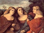 Palma il Vecchio The Three Sisters oil painting