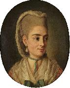 Per Krafft the Elder Portrait of an unknown lady oil painting