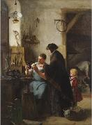 Robert Koehler The Old Sewing Machine oil painting