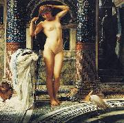 Sir Edward john poynter,bt.,P.R.A Diadumene, Dimensions and material of painting oil painting