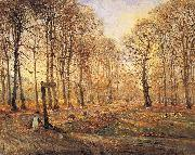 Theodor Esbern Philipsen A Late Autumn Day in Dyrehaven, Sunshine oil painting