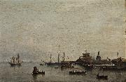 Theodore Frere Approach to Copenhagen oil painting