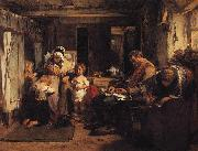 Thomas Faed When the Day is Done oil painting