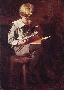 Thomas Pollock Anshutz Boy Reading: Ned Anshutz oil painting