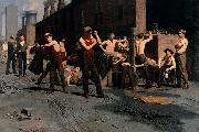 Thomas Pollock Anshutz The Ironworkers Noontime oil painting