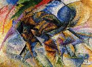 Umberto Boccioni Dynamism of a Biker oil painting reproduction