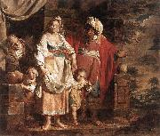 VERHAGHEN, Pieter Jozef Hagar and Ishmael Banished by Abraham oil painting