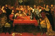 Valentine Cameron Prinsep Prints A Venetian Gaming-House in the Sixteenth Century oil painting