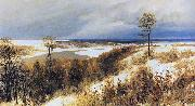 Vasiliy Polenov Early Snow oil painting