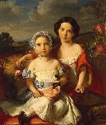 Vital Jean De Gronckel Portrait of Two Children oil painting