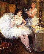 Willard Leroy Metcalf The Ballet Dancers aka The Dressing Room oil painting