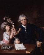 William Hoare Portrait of Christopher Anstey with his daughter oil painting