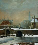 Wouter Johannes van Troostwijk The Raamgate at Amsterdam oil painting