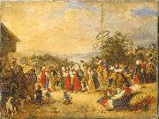 kilian zoll Midsummer Dance at Rattvik oil painting