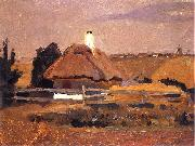 unknow artist Hut in Popowca on Ukraine oil painting reproduction
