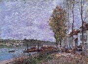 Alfred Sisley Overcast Day at Saint-Mammes oil painting reproduction
