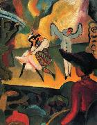 August Macke Russisches Ballett oil painting reproduction