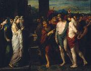 Benjamin West Pylades and Orestes Brought as Victims before Iphigenia oil painting reproduction