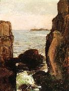 Childe Hassam Nymph on a Rocky Ledge oil painting reproduction