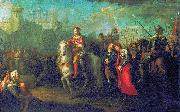 Grigoriy Ugryumov Alexander Nevsky in Pskov, after they victory over the Germans oil painting